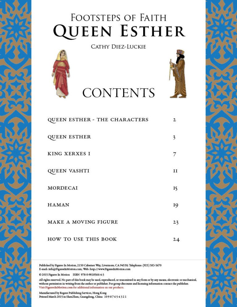 Table of Contents Footsteps of Faith Queen Esther