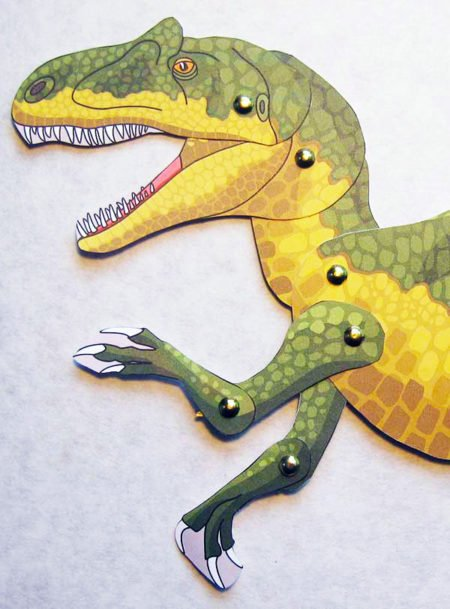 Articulated paper allosaurus from Dinosaurs on the Move