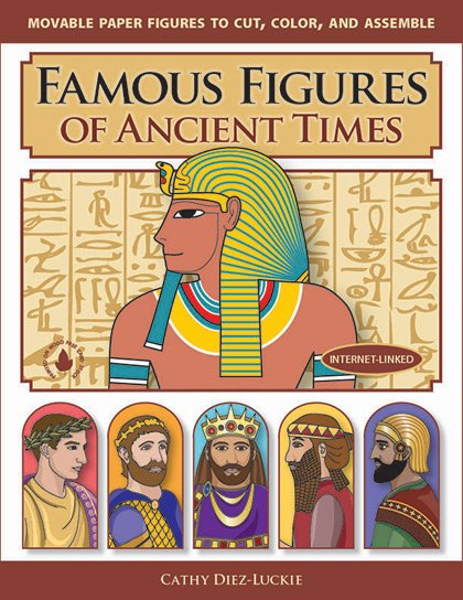 Jointed Paper Dolls of famous people in ancient history - fun history crafts