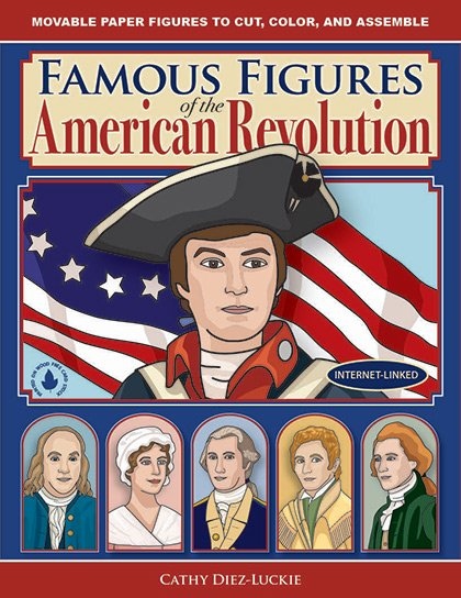 Articulated Paper Dolls of famous people in American history - history crafts