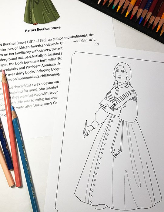 American History Coloring Pages from Famous Figures of the Civil War Coloring eBook