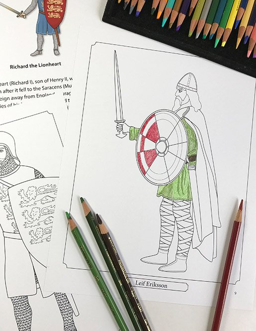 Middle Ages Coloring Pages from Famous Figures of Medieval Times Coloring eBook